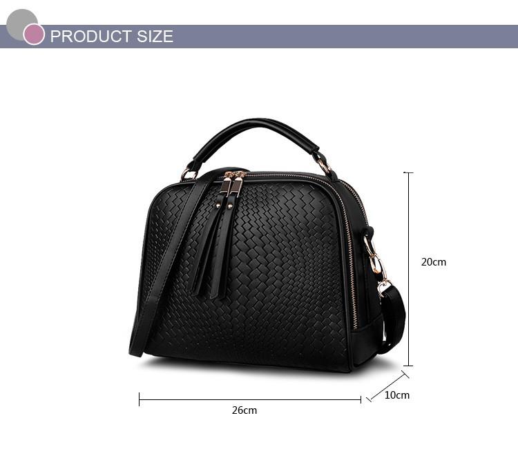 2015 Autumn New Arrival Women Weave Tassel Women PU Leather Handbags Women Shoulder Bag Ladies Casual Messenger Bags BH1150 (5)