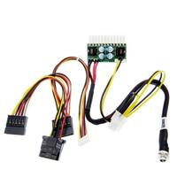 10 PCS PCI-E 6pin Entrada DC-ATX-250W 24pin Power Module Abastecimento Swithc Pico Carro Auto Mini ITX PSU Alta módulo de potência DC-ATX ITX Z1