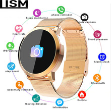 New OLED Bluetooth Smart Watch Stainless Steel Waterproof Wearable Device Smartwatch Wristwatch Men Women Fitness Tracker Reloj diggro q8 oled bluetooth fitness smart watch stainless steel waterproof wearable device smartwatch wristwatch men women tracker