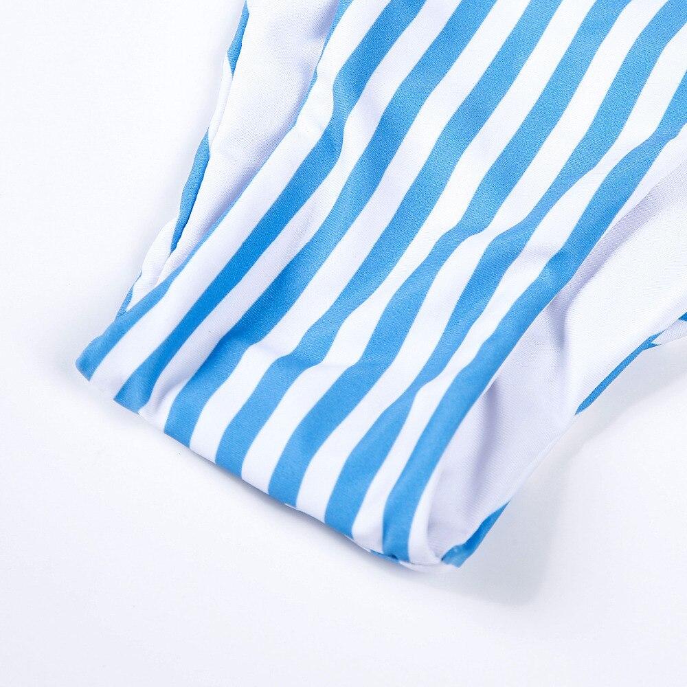 HTB1XaOqriCYBuNkSnaVq6AMsVXao Hirigin Women Swimwear Striped Women Bikinis Set One Shoulder Bandage Pushed Up Paded Bikinis Swimsuits Real Photo
