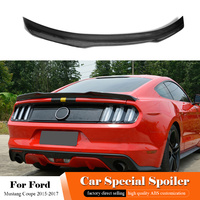 AITWATT Fit For Ford Mustang Coupe Carbon Fiber Rear Spoiler Car Trunk Tail Wing Lip Spoiler Car Styling 2017 2016 2015