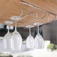Kitchen Bar Wine Glass Rack Holder Under Cabinet Stemware Hanger Shelf Cup Wine Glasses Storage Shelf