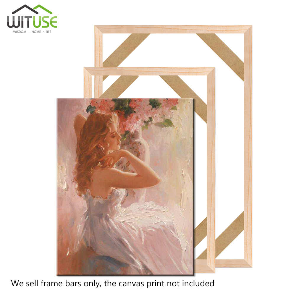 DIY Solid Wood Canvas Frame Kit 32 Inch x 2PCs for Oil Painting /& Wall Art Customized Wooden Art Frames for Paintings /& Canvases Easy to Build Canvas Stretching System Framed Picture Accessories