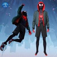 MANLUYUNXIAO Человек паук: в паук стих Хэллоуин Косплей Костюм для детей кигуруми маска