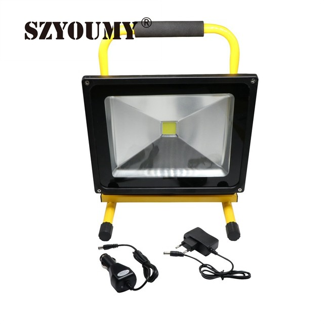 Online shop szyoumy 10w 20w 30w 50w rechargeable led floodlight szyoumy 10w 20w 30w 50w rechargeable led floodlight outdoor battery led flood light lamp warm white cool whitecar charger aloadofball Choice Image