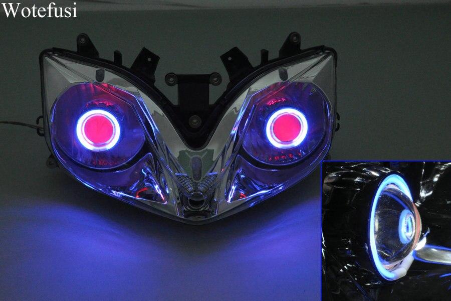 Wotefusi Projector Lamps Headlight Blue Angel Eye Red Devil Eye For Honda CBR 600 F4I 01