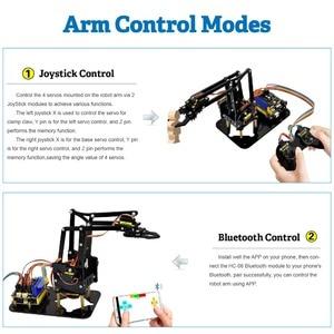 Image 5 - Keyestudio 4DOF acrylique jouets Robot mécanique bras griffe Kit pour Arduino Robot à monter soi même
