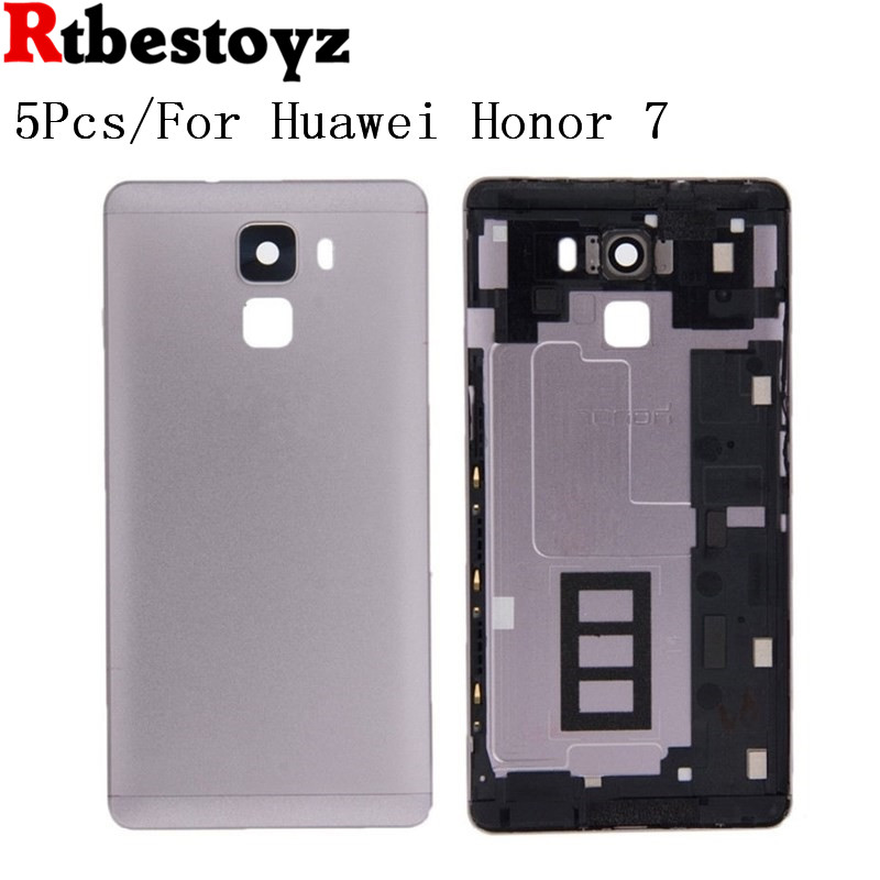 RTBESTOYZO 5Pcs/lot For Huawei Honor 7 Battery Back Cover Case 5.2 Inch For Honor7 Phone Housing Back Battery Door Case Accessor