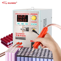 SUNKKO 797DH точечная сварочная машина 3.8KW Высокая мощность батареи точечная сварочная машина для 18650 аккумуляторных упаковок сварных высокоточ