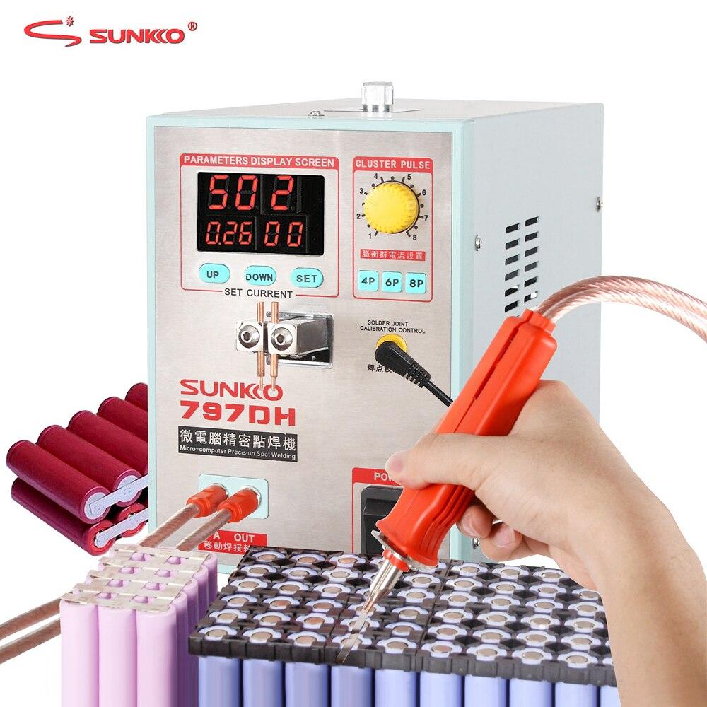 SUNKKO 797DH Spot Saldatore 3.8KW Batteria Ad Alta Potenza Macchina Per 18650 Batterie e Accumulatori di Saldatura di Saldatura a punti di Precisione Pulse Spot Saldatori