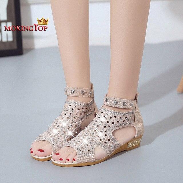 Mokingtop kadın sandalet Hollow Roma Ayakkabı bayan ayakkabıları moda kadınlar için 2018 yaz sandalet sommer schuhe damen # #