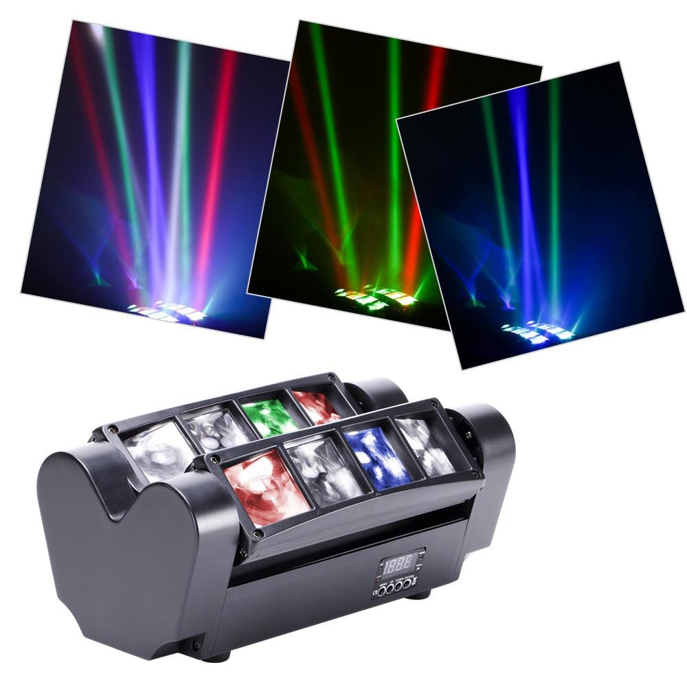 LED 8 eye small spider light KTV private room dance hall bar sound control stage lighting laser light