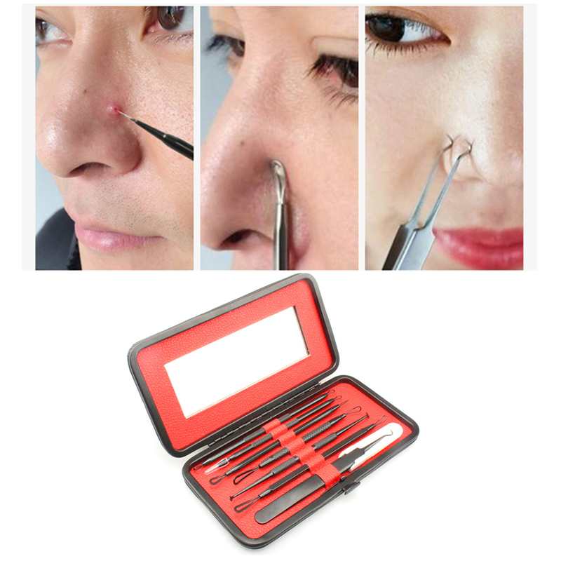 7 Pcs Set Premium Blackhead Needles Comedone Acne Pimple Blemish Treatments Extractor Remover Face Skin Care Tool Kit Hot Sales Home Use Beauty Devices Aliexpress