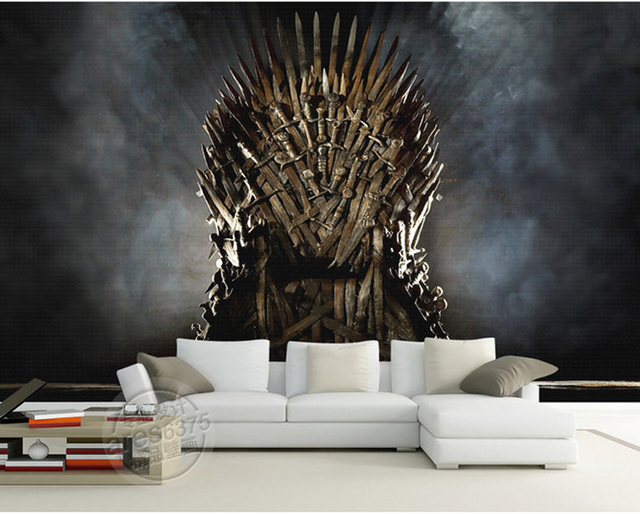 game of thrones papier peint fer tr ne mur peintures murales sur mesure photo papier peint. Black Bedroom Furniture Sets. Home Design Ideas