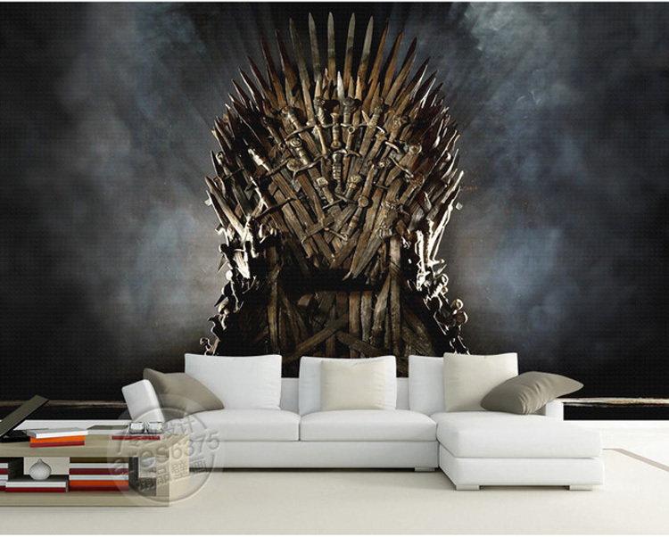 Buy game of thrones wallpaper iron throne for Decoration murale wall art
