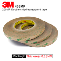 100% Original 3M 468MP High tempreture double sided sticker clear color two sided tape 468MP18mm*55m 5roll a lot good quality
