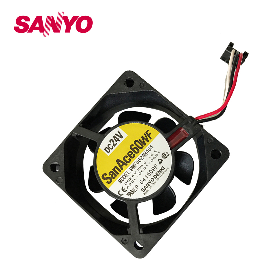 New and original waterproof 9WF0624H404 6025 24V 0.15A fan for  60*60*25mm original 2410ml 05w b39 6025 6cm 0 08a 24v inverter fan stall warning for nmb 60 60 25mm