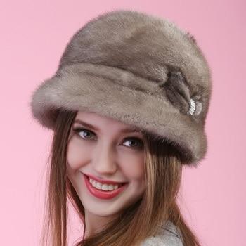 autumn winter Super warm below zero show women real fur lovely Russian style cap vintage lady luxur fur hat famous band new