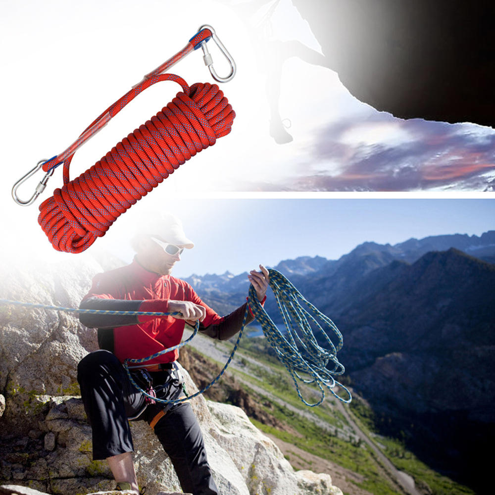 10mm Climbing Rope Rock Ice Climbing Equipment High Strength Survival Paracord Safety Ropes Emergency Rescue Climbing Accessory|Climbing Accessories| |  - title=