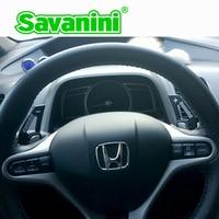 Savanini alumínio volante shift paddle shifter extensão forma para honda apto (2009 2013) e civic (2009) estilo do carro automático|shift paddles|paddle shifters|steering wheel shift paddles -