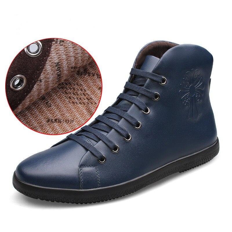 Chaussures de randonnée hommes printemps 2019 haute qualité chaussures de sport en cuir Superfine en plein air antidérapant imperméable chaussures pour hommes chaussures en coton