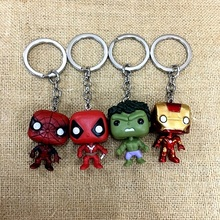 2019 New Captain America Thor Batman Iron Man Superman Spider Man The Avengers Keychain Keyring Movie Super Hero Key Ring