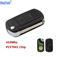 OkeyTech New Styling Flip Remote Car Key 434 Mhz For Landrover LR3 Range Rover 3 Buttons