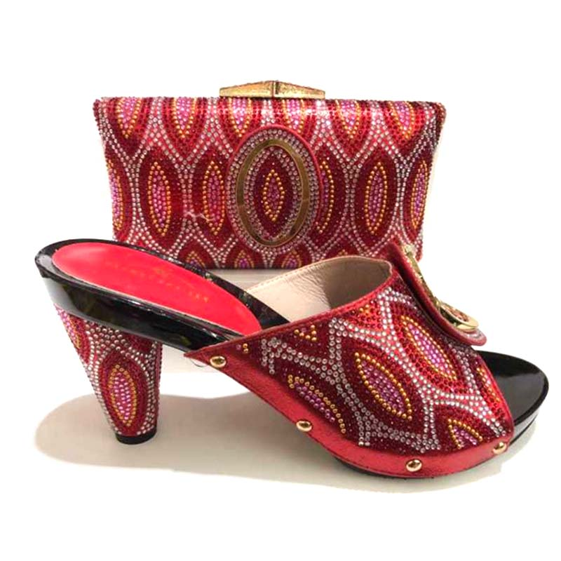Latest red Color Italian Matching Shoes And Bag Set African Wedding Shoe And Bag Set Italy Shoe And Bag Set Women High Heels зубная щетка колгейт 360 глубокая чистка мягкие скидка 15 72 шт 21141