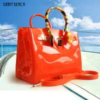 SUNNY BEACH Brand Fashion Female handbags Jelly bags PVC waterproof beach bag luxury women bag Crossbody bags