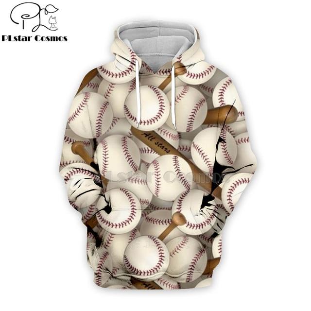 PLstar Cosmos sport baseball 3D Print Hoodies/Sweatshirt/Jacket/shirts Tees Men Women Galaxy Unisex streetwear Drop shipping-2