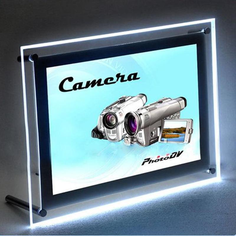 A3 Single Sided Restaurant Menu Display Panel, Advertising Illumianted Acrylic Poster & Menu Frames