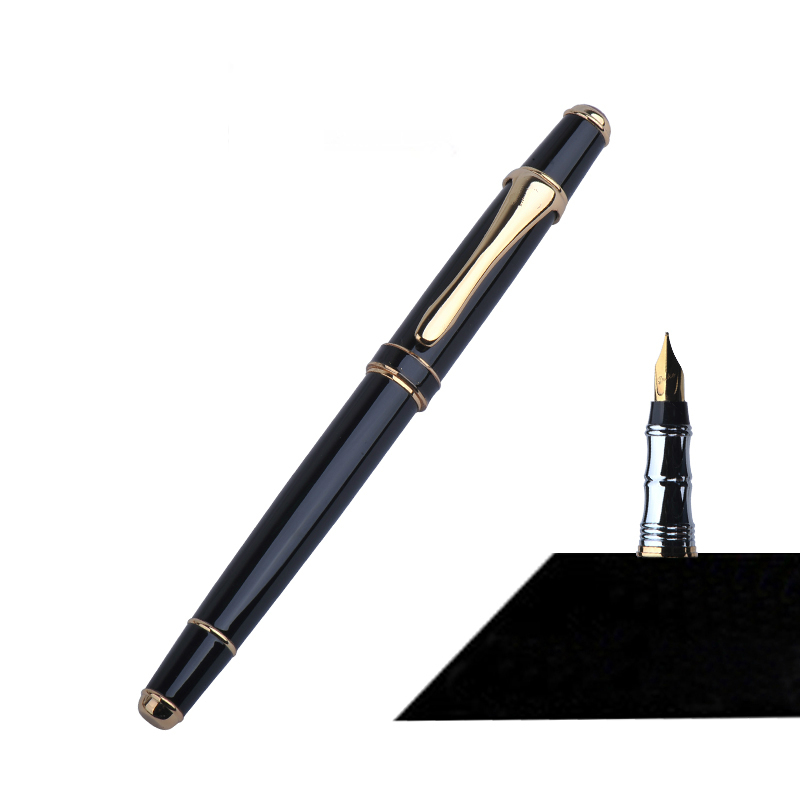 High Quality Fountain Pen Metal Ink Iraurita Nib Calligraph Writing Instrument Tool 0.5-0.8mm Bussiness Gift 3 Colors Optional jinhao business gifts writing ink pen black with old grey snake wind medium 18kgp nib 3d metal fountain pen