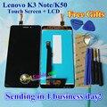Alta qualidade display lcd + touch screen digitalizador substituição para lenovo k3 note k50 k50-t5 1920*1080 celular cor preto