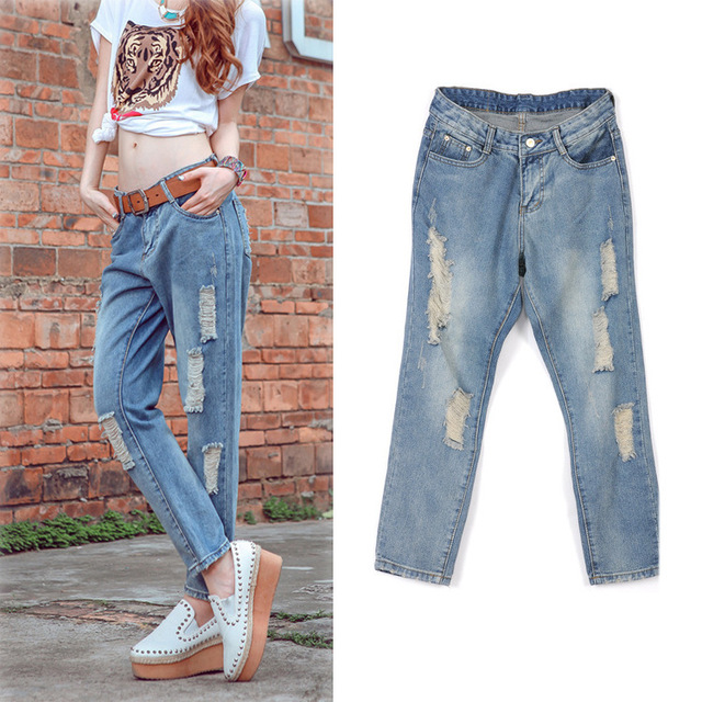 Aliexpress.com : Buy Ripped jeans for women cool Good Quality Wide ...