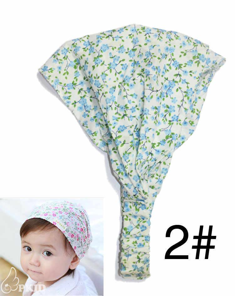 New2017 nuevo diseño verano otoño sombrero niña niño gorra niños sombrero bufanda arruga hijab flor bufanda diseñador diademas para
