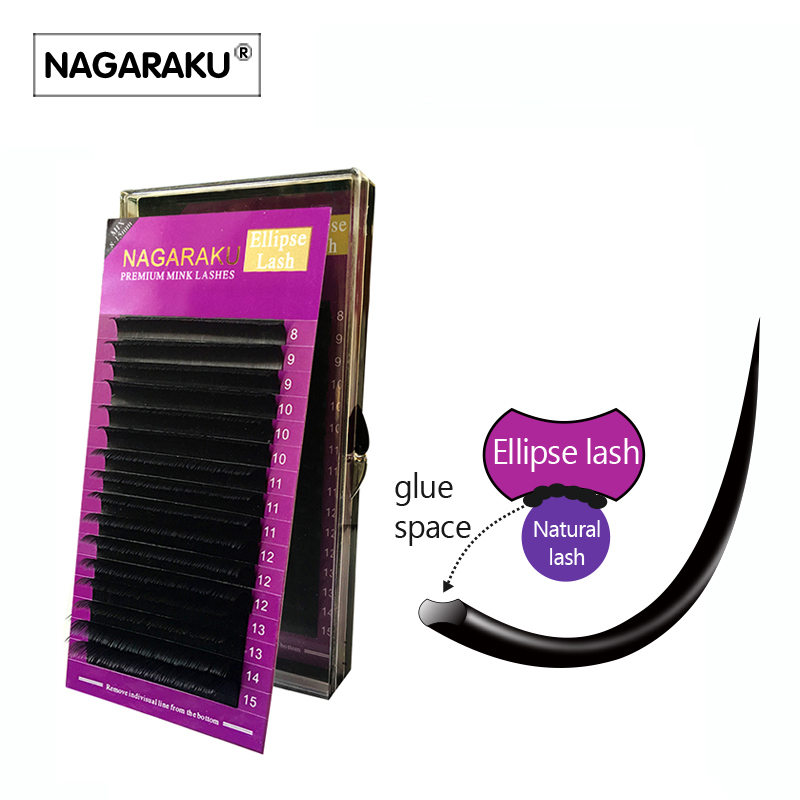 NAGARAKU Ellipse Eyelashes, Mix 8~15mm,Ellipse Mink Eyelash Extension,flat mink cilia eyelashes,Faux Mink Ellipse eyelashes antony morato толстовка