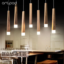 Nordic Art Design Wood Stick Pendant Lights Creative Simple Bar Restaurant Living Room Led Long Stick Hanging Pipe Pendant Lamp