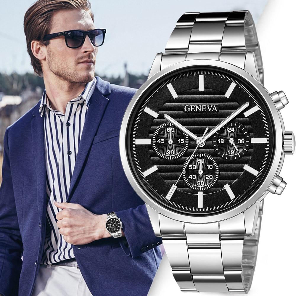 man watches 2019 brand luxury Stainless Steel Quartz Analog Date Wrist Watch Sport Watches Gifts relogio masculino zegarek meski