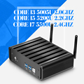 CPU Computador Desktop Mini PC Windows 7/8 Core I5 I7 5200U 5500I I3 5005U Gigabit Lan Fanless PC com HDMI 8G RAM 128G SSD + WIFI