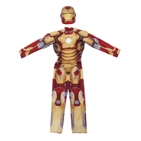 Iron Man Costume Mark 42 / Patriot With Muscles For Kids Child Halloween Cosplay (2 Designs) 5