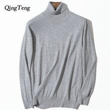 bc7a2b2d1941a Водолазка Для мужчин; кашемировый свитер Джерси Плюс Размеры оптовая  продажа кашемир Knit High Neck черный пуловер Темно-синие O..