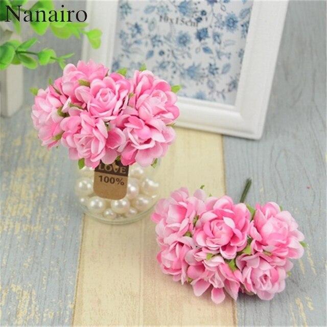 60 Stucke Daisy Kunstliche Blumen Silk Hochzeit Dekoration Diy Clip