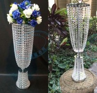 Bling silver Gold Metal Wedding Table Centerpiece Crystal Flower Stand Wedding Props Table Centerpiece 10pcs/lot