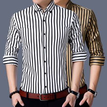 RICHARDROGER  2017 spring fall men's fashion business casual long sleeve shirt 130