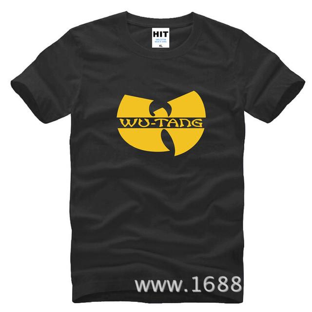 Wu - Tang Clan clássico W Logo RAP HARDCORE HIP HOP dos homens dos homens T Tshirt da camisa da forma 2015 New Cotton T - camisa Tee Camisetas Hombre