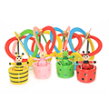 Wooden Toys  Baby Hanging Bed Toys Cartoon Animal Hot Air Balloon Design Toy for Kids Random Color
