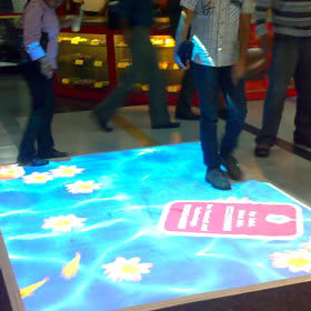 DefiLabs Hot selling Interactive floor software and 130 effects,The ability to expand,projector,projection shape