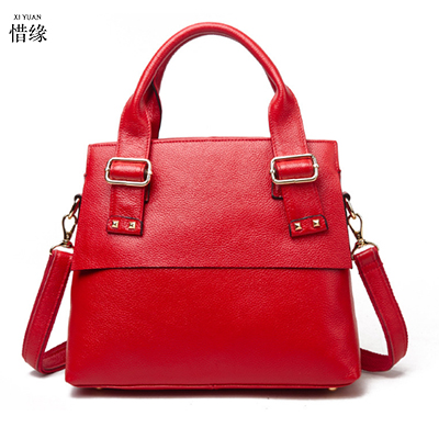 XIYUAN BRAND handbags women famous brands luxury Genuine leather high quality crossbody bags for moms messenger bag handbag red