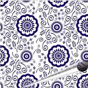 Фото Синий и белый узор дешевые съедобные Печать Шоколад Передача Простыни Детские