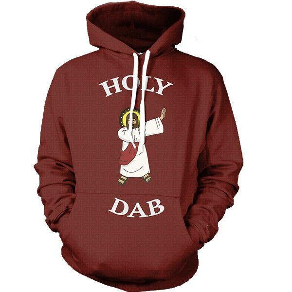HOLY DAB 3D Print Unisex Pollover Hoodies With Pocket Hooded Sweatshirt US Size Long sleeve Hoodie